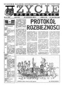 Życie Przemyskie : tygodnik Polskiej Zjednoczonej Partii Robotniczej. 1983, R. 17, nr 47 (830) (23 listopada)