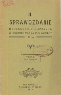 Sprawozdanie Dyrekcyi C. K. Gimnazyum w Trembowli za rok szkolny 1911/12