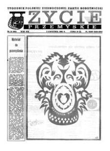Życie Przemyskie : tygodnik Polskiej Zjednoczonej Partii Robotniczej. 1985, R. 19, nr 14 (901) (3 kwietnia)