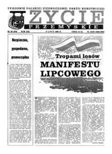 Życie Przemyskie : tygodnik Polskiej Zjednoczonej Partii Robotniczej. 1985, R. 19, nr 29 (916) (17 lipca)