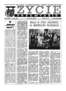 Życie Przemyskie : tygodnik Polskiej Zjednoczonej Partii Robotniczej. 1985, R. 19, nr 30 (917) (24 lipca)