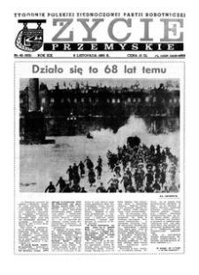 Życie Przemyskie : tygodnik Polskiej Zjednoczonej Partii Robotniczej. 1985, R. 19, nr 45 (932) (6 listopada)