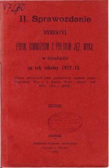Sprawozdanie Dyrekcyi Prywatnego Gimnazyum z polskim językiem wykładowym w Zbarażu za rok szkolny 1912/13