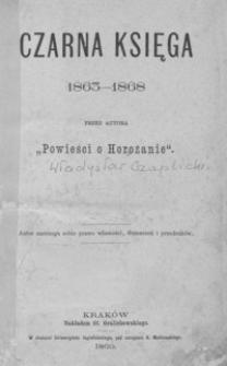Czarna księga : 1863-1868