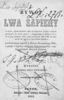 Żywot Lwa Sapiehy