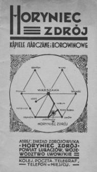 Horyniec-Zdrój : kąpiele siarczane i borowinowe