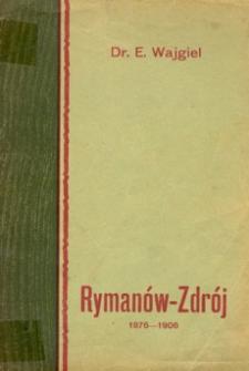 Rymanów-Zdrój : 1876-1906