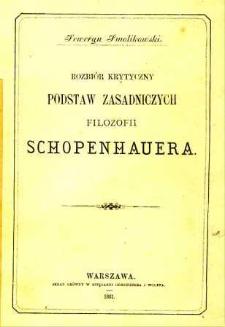 Rozbiór krytyczny podstaw zasadniczych filozofii Schopenhauera