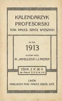 Kalendarzyk profesorski Towarzystwa Nauczycieli Szkół Wyższych na rok 1913