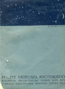 W mroku gwiazd : poezye Tadeusza Micińskiego