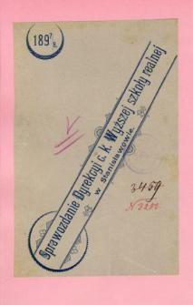 Sprawozdanie Dyrekcyi C. K. Wyższej Szkoły Realnej w Stanisławowie za rok szkolny 1897/8