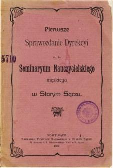 Sprawozdanie Dyrekcyi C. K. Seminaryum Nauczycielskiego Męskiego w Starym Sączu za rok szkolny 1906/07