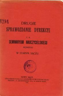 Sprawozdanie Dyrekcyi C. K. Seminaryum Nauczycielskiego Męskiego w Starym Sączu za rok szkolny 1909/10