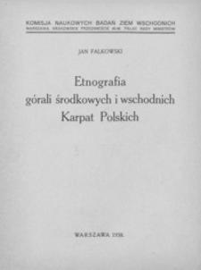 Etnografia górali środkowych i wschodnich Karpat Polskich