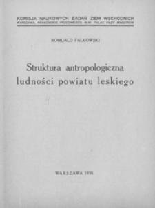 Struktura antropologiczna ludności powiatu leskiego : (streszczenie)