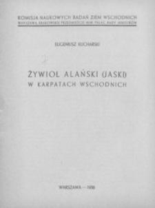 Żywioł alański (jaski) w Karpatach wschodnich
