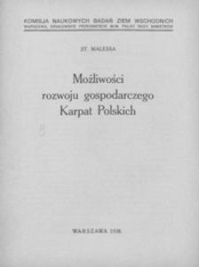 Możliwości rozwoju gospodarczego Karpat Polskich : (streszczenie)
