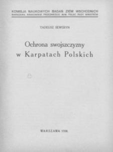 Ochrona swojszczyzny w Karpatach Polskich