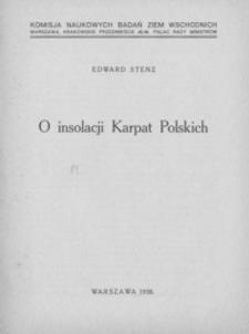 O insolacji Karpat Polskich