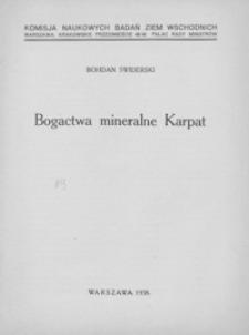 Bogactwa mineralne Karpat