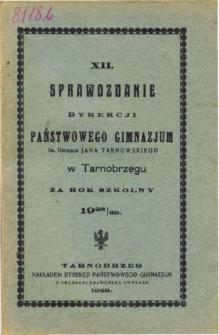 Sprawozdanie Dyrekcji Państwowego Gimnazjum im. Hetmana Jana Tarnowskiego w Tarnobrzegu za rok szkolny 1928/29