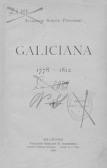 Galiciana : 1778-1812