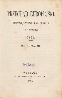 Przegląd Europejski, Naukowy, Literacki i Artystyczny. R. 1. T. 3