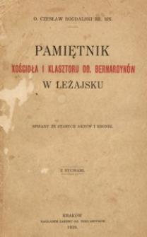 Pamiętnik kościoła i klasztoru OO. Bernardynów w Leżajsku : spisany ze starych aktów i kronik