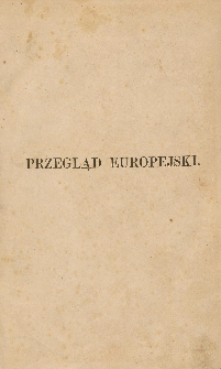 Przegląd Europejski, Naukowy, Literacki i Artystyczny. R.1 T.4