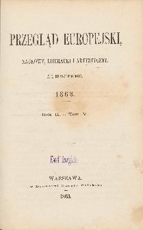 Przegląd Europejski, Naukowy, Literacki i Artystyczny. R.2 T.5