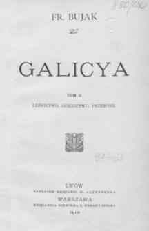 Galicya. T. 2, Leśnictwo, górnictwo, przemysł