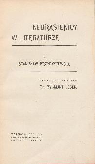 Neurastenicy w literaturze