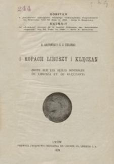 O ropach Libuszy i Klęczan = Note sur les huiles minérales de Libusza et de Klęczany