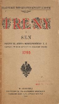 Treny i sen : poezje Józefa Morelowskiego napisane w roku ostatniego rozbioru Polski 1795