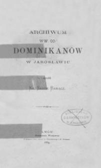 Archiwum WW. OO. Dominikanów w Jarosławiu