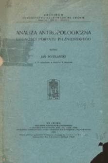 Analiza antropologiczna ludności powiatu pilznieńskiego