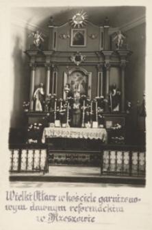 Wielki Ołtarz w kościele garnizonowym dawnym reformackim w Rzeszowie [Pocztówka]