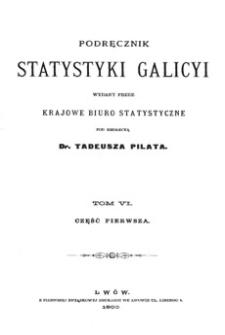 Podręcznik statystyki Galicyi. T. 6, Cz. 1