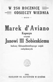 Marek d'Aviano Kapucyn wręcza Janowi III Sobieskiemu buławę Głównodowodzącego wojsk związkowych