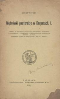 Wędrówki pasterskie w Karpatach. [Cz.] 1