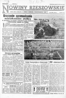 Nowiny Rzeszowskie : organ KW Polskiej Zjednoczonej Partii Robotniczej. 1961, nr 207-232 (wrzesień)