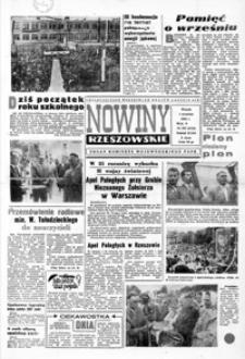 Nowiny Rzeszowskie : organ KW Polskiej Zjednoczonej Partii Robotniczej. 1964, nr 207-232 (wrzesień)