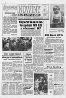 Nowiny Rzeszowskie : organ KW Polskiej Zjednoczonej Partii Robotniczej. 1966, nr 128-153 (czerwiec)