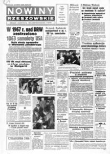 Nowiny Rzeszowskie : organ KW Polskiej Zjednoczonej Partii Robotniczej. 1968, nr 309, 1-26 (styczeń)