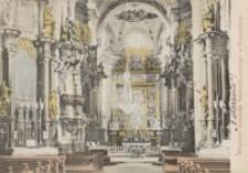 Wnętrze kościoła bernardyńskiego w Rzeszowie [Pocztówka]