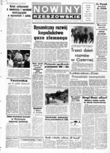 Nowiny Rzeszowskie : organ KW Polskiej Zjednoczonej Partii Robotniczej. 1968, nr 181-207 (sierpień)