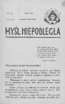 Myśl Niepodległa 1907 nr 16