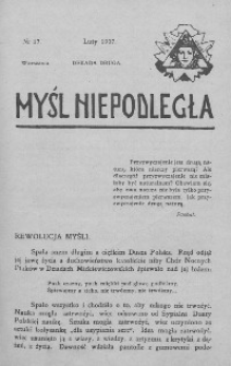Myśl Niepodległa 1907 nr 17
