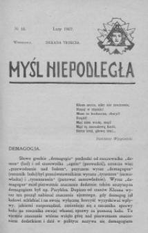Myśl Niepodległa 1907 nr 18