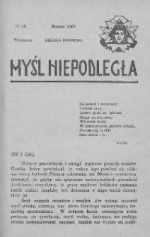 Myśl Niepodległa 1907 nr 19